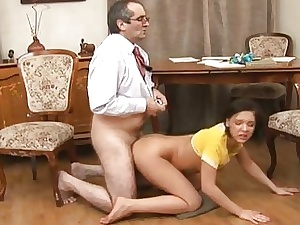 Sexual grey school is humping babes anal drill