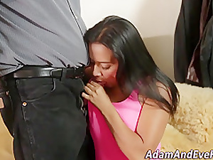 Latina babes chest cumshot