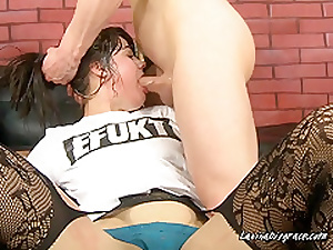 Young  Horny Babe Gets Skull Fucked By Hung Dude