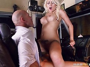 Brazzers Exxtra: Last Stop , Titfuck Road. Marsha May, Johnny Sins