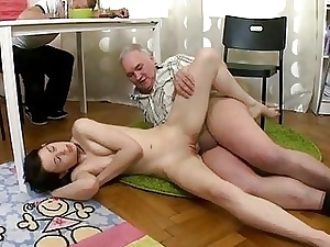 Beautiful awaiting young babe almost arms takes almost mouth elderly thud