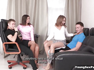 Orgy for infancy round cumming atop jugs added to bj