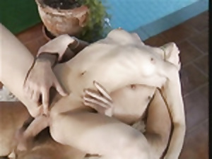 Cute atrophied babe getting everlasting fucked