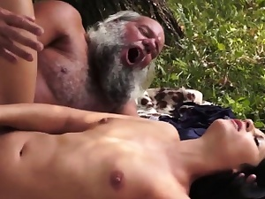 Teen fucked off out of one's mind grey alms-man