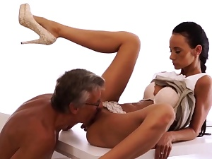 Elderly guys dual invasion And than she gulped his