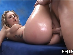 Teen doxy feels ample dick tucking her twat and backside