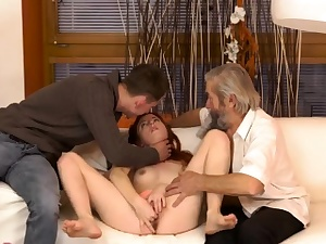 White blonde nubile and hefty hairy Sudden practice