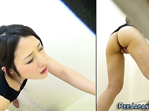 Kinky japanese masturbating