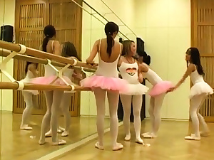 Brunette twins three-way hard-core Super-fucking-hot ballet girl orgy