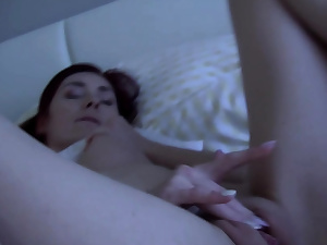 Stellar honey in underwear frigs her pussy