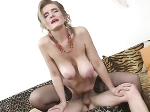 Posh big-boobed mature mom fucks a lucky youthful boy with zeal and ;ust