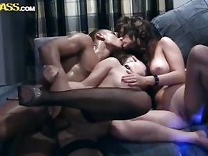 Completely super-naughty gang hook-up movie 1