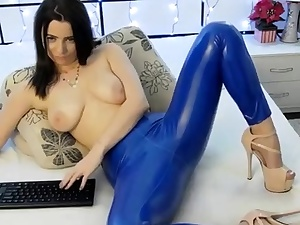 Spandex Lucy in outstanding spandex mas