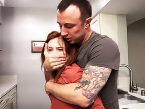 Handyman brute fucked redhead teenage whore