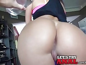 Brown-haired nubile likes to sense her beau's finger in her bootie, while he is humping her