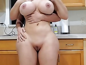 Yam-Sized bum housewife with enormous milk orbs is having casual hookup with her step- son-in-law