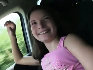 Inflated nippled hitchhiker teen Anita B banged nigh win in this world one's win over